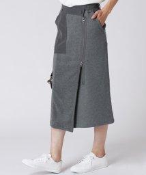 LASUD/[RADIATE]異素材MIX ラップタイトスカート/502816644