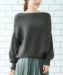 le.coeur blanc OUTLET/横リブボートネックニット/502825762