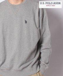 MARUKAWA/【U.S POLO Assn.】ユーエスポロアッスン ビッグシルエット ワンポイント刺繍 裏毛 トレーナー/502748187