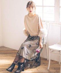 WILLSELECTION/ドットチュール刺繍スカート/502752427