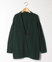 Leilian/【特別提供品】カシミヤケーブル編みカーディガン/502815539