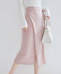 SAISON DE PAPILLON/大人かわいい巻き風ミモレニットスカート/502822480