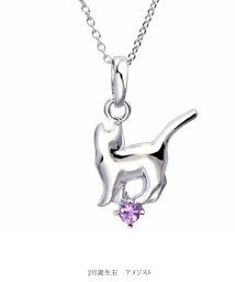Sears/ネックレス レディース 猫 ネコ ねこ 誕生石ネックレス シルバー  s-171/502823478