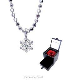 Sears/ネックレス レディース 一粒 ダイヤモンド 6本爪 プリザーブドフラワー ローズ 薔薇/502823489