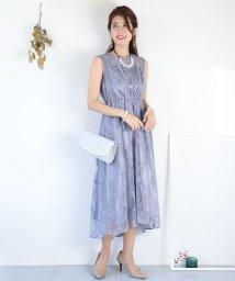 BLUEEAST/スタンドカラーラメレースドレス/502827207