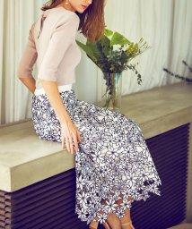 Noela/ボタニカル刺繍レーススカート/502828195