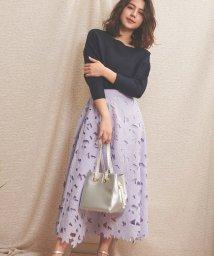 Noela/【美人百花3月号掲載】ボタニカル刺繍レーススカート/502828195