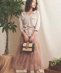 Noela/【美人百花・andGIRL・Ray3月号掲載】刺繍チュールスカート/502828198