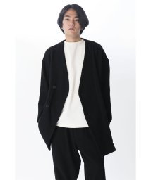 KURO/【KURO】NO COLLAR KERSEY KIMONO SLEEVE COAT/502829433