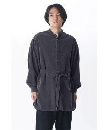 KURO/【KURO】24 W BIG BAND COLLAR SHIRT COAT/502829434