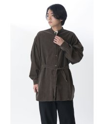 KURO/【KURO】24 W BIG BAND COLLAR SHIRT COAT/502829434