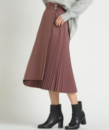 socolla/【socolla】アシメプリーツラップスカート/502724059