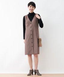 CARA O CRUZ/【特別提供品】チェック柄ジャンパースカート/502815011