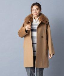 Leilian/【特別提供品】フォックスショールカラーカシミヤコート/502815438
