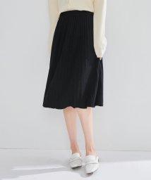 SAISON DE PAPILLON/ミモレ丈ニットプリーツスカート/502822553