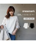 ZNEWMARK/カットソー 花柄 袖レース/502823664