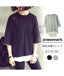 ZNEWMARK/重ね着 Tシャツ 半袖/502823665