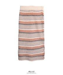 GROWINGRICH/[ボトムス スカート]ボーダージャガードニットスカート[190650]/502829900