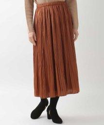GIANNI LO GIUDICE/【ウエストゴム】プリーツサテンスカート/502833265