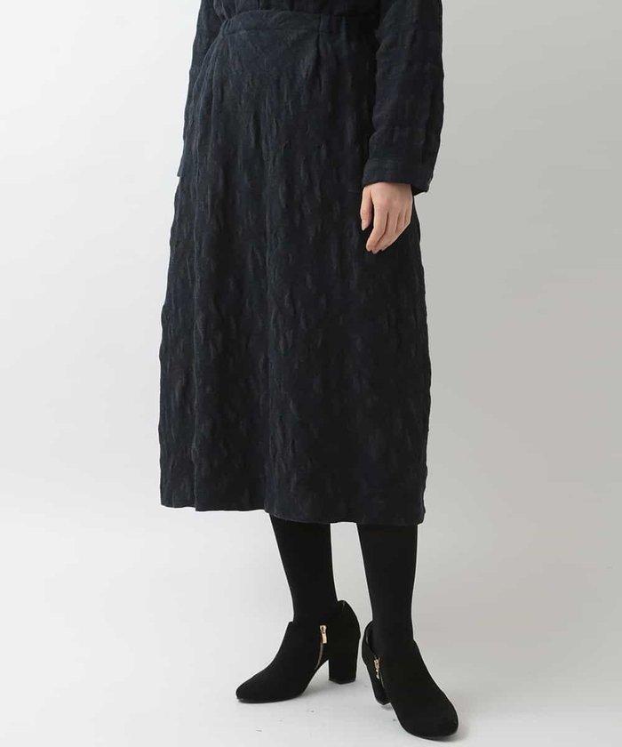 【後ろゴム】クリンクルウールスカート