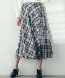 socolla/【socolla】マドラスチェック巻き風スカート/502833609