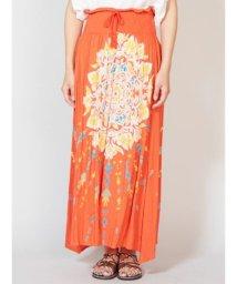CAYHANE/【チャイハネ】yul 曼荼羅模様ロングスカート オレンジ/502270005