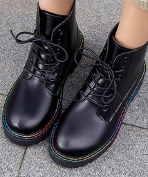 miniministore/ショート ブーツ レディース レースアップ シューズ 歩きやすい 厚底 疲れにくい 秋冬 婦人靴/502833984