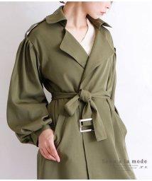 Sawa a la mode/バルーン袖のベルト付きトレンチコート/502834053