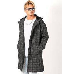 LUXSTYLE/ウールフーデッドコート/コート メンズ ウールコート ロングコート フーデッド/502835017