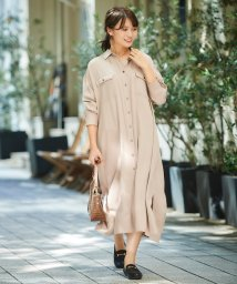 le.coeur blanc OUTLET/レーヨンツイルシャツワンピース/502835146