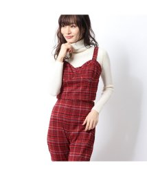 GUESS/ゲス GUESS KAVERI HOUNDSTOOTH CROP TOP (WEAR ME RED)/502835313