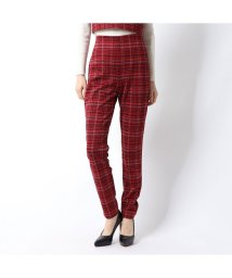 GUESS/ゲス GUESS KAVERI HOUNDSTOOTH SLIM PANT (WEAR ME RED MULTI)/502835320
