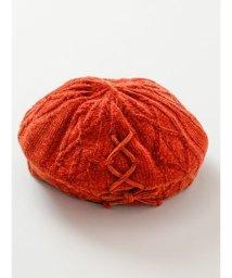 CAYHANE/【チャイハネ】モールニットベレー帽 オレンジ/502835767