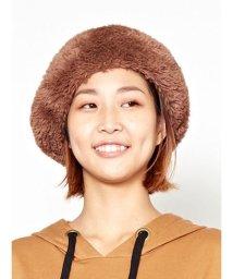 CAYHANE/【チャイハネ】フェイクファーベレー帽 ブラウン/502835945