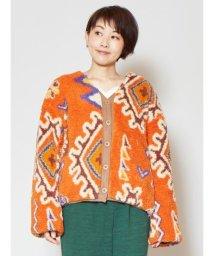 CAYHANE/【チャイハネ】マラケシュボアショートジャケット リバーシブル オレンジ/502835977