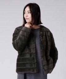 LASUD/[Aga]エコファー中綿ジャケット/502828357