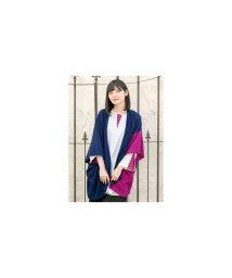 KAYA/【カヤ】-attakee- 七宝柄 華色羽織り ビッグシルエットニットカーディガン ネイビー/502836427