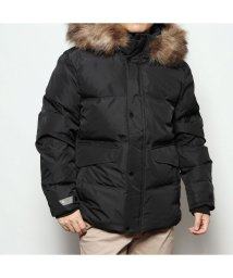 GUESS/ゲス GUESS FUR HOODED DOWN JACKET (BLACK)/502838476