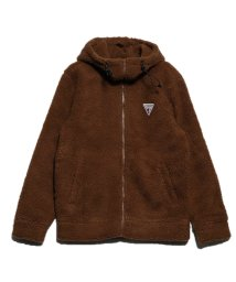 GUESS/ゲス GUESS BOA FLEECE HOODED ZIP-UP PARKA (CAMEL)/502838478
