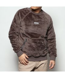 GUESS/ゲス GUESS UNISEX BOA FLEECE LOGO SWEAT (CHARCOAL GREY)/502838481
