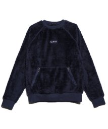 GUESS/ゲス GUESS UNISEX BOA FLEECE LOGO SWEAT (NAVY)/502838482