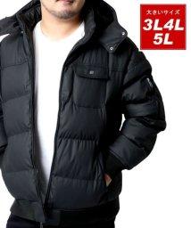 MARUKAWA/大きいサイズ PUコーディング 中綿 ジャケット/502809297