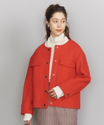 BEAUTY&YOUTH UNITED ARROWS/BY クレーターメルトンノーカラーショートコート/502827778