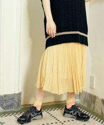 BEAUTY&YOUTH UNITED ARROWS/【予約】BY ソリッドシフォンプリーツスカート/502828184