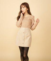 MIIA/ツイードビジュー台形スカート/502837490