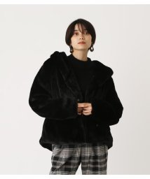 AZUL by moussy/ECO FUR FOOD SHORT COAT/502838891
