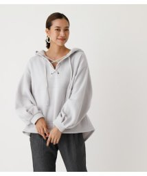 AZUL by moussy/LACE-UP LOOSE HOODIE/502838896