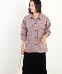 FUNNY COMPANY+/コーデュロイCPOシャツ/502839316