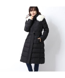 GUESS/ゲス GUESS FUR HOODED GOOSE LONG DOWN JACKET (BLACK)/502841507