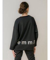 emmi atelier/【emmi atelier】ダンボールニットロゴトップス/502842230